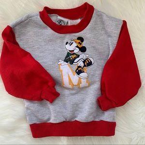 Disney Mickey Mouse Vintage Crewneck Kids 2 T